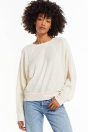 z supply Z Supply Claire Waffle Top - Front cropped
