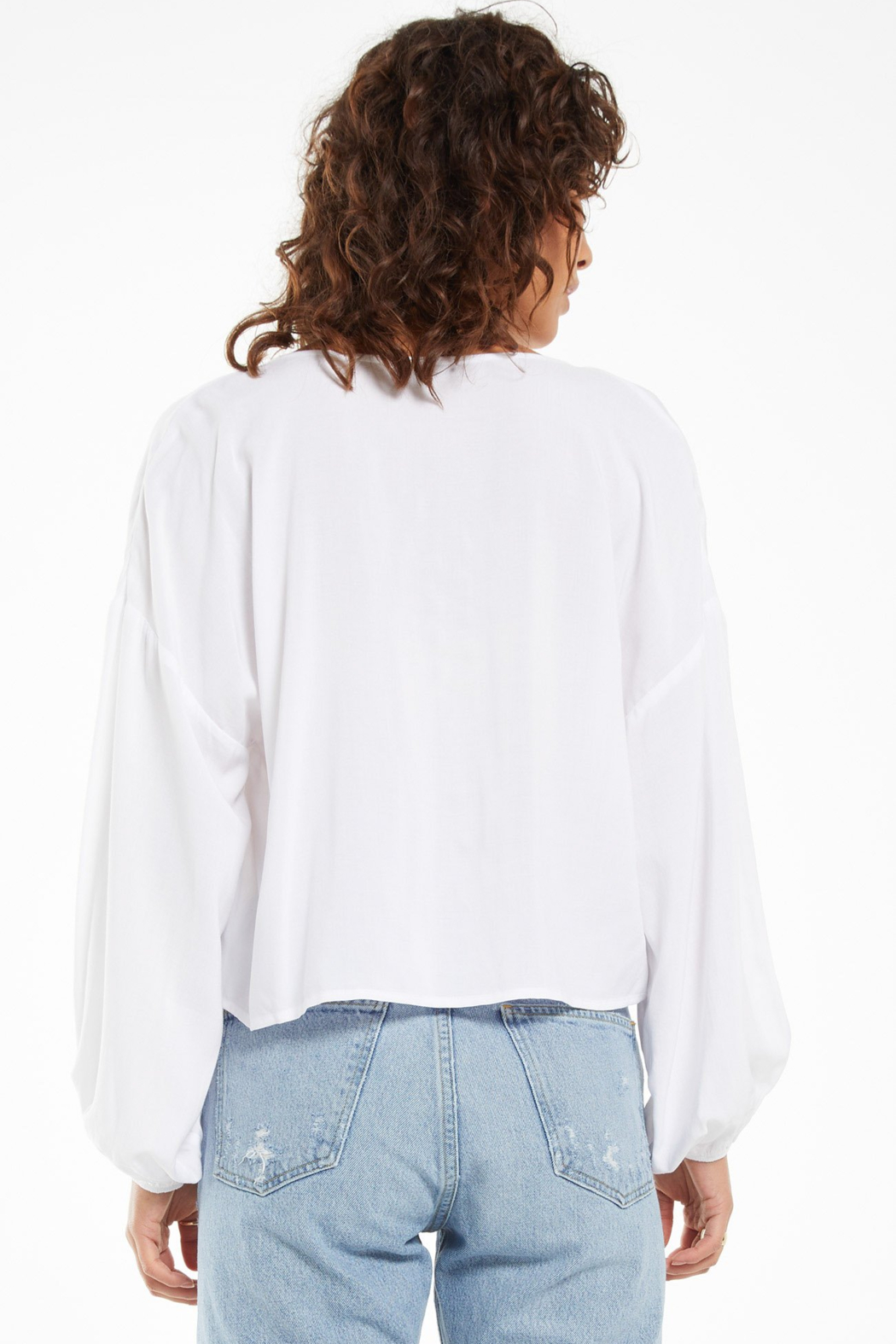 z supply Z Supply Coral Isle Top - White - Side Cropped Image