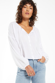 z supply Z Supply Coral Isle Top - White - Front full body