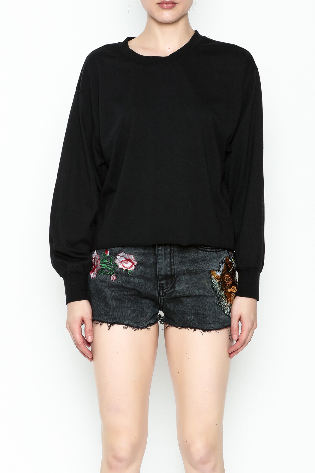 z supply Cropped Sweatshirt - Front Full Image