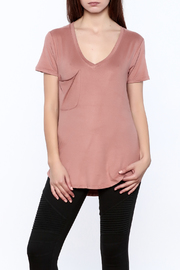 z supply Faux Suede Pocket Tee - Product Mini Image