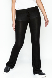 z supply Sheer Black Bootcut Pants - Front cropped