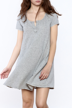 z supply Grey Short Sleeve Dress - Product List Image