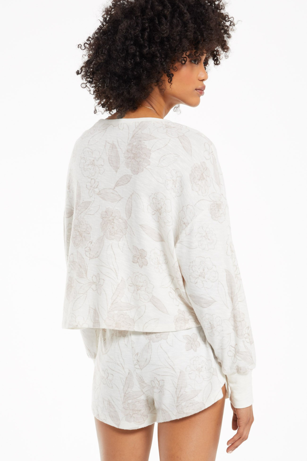 z supply Z Supply L/S Lina Floral Top - Front Full Image
