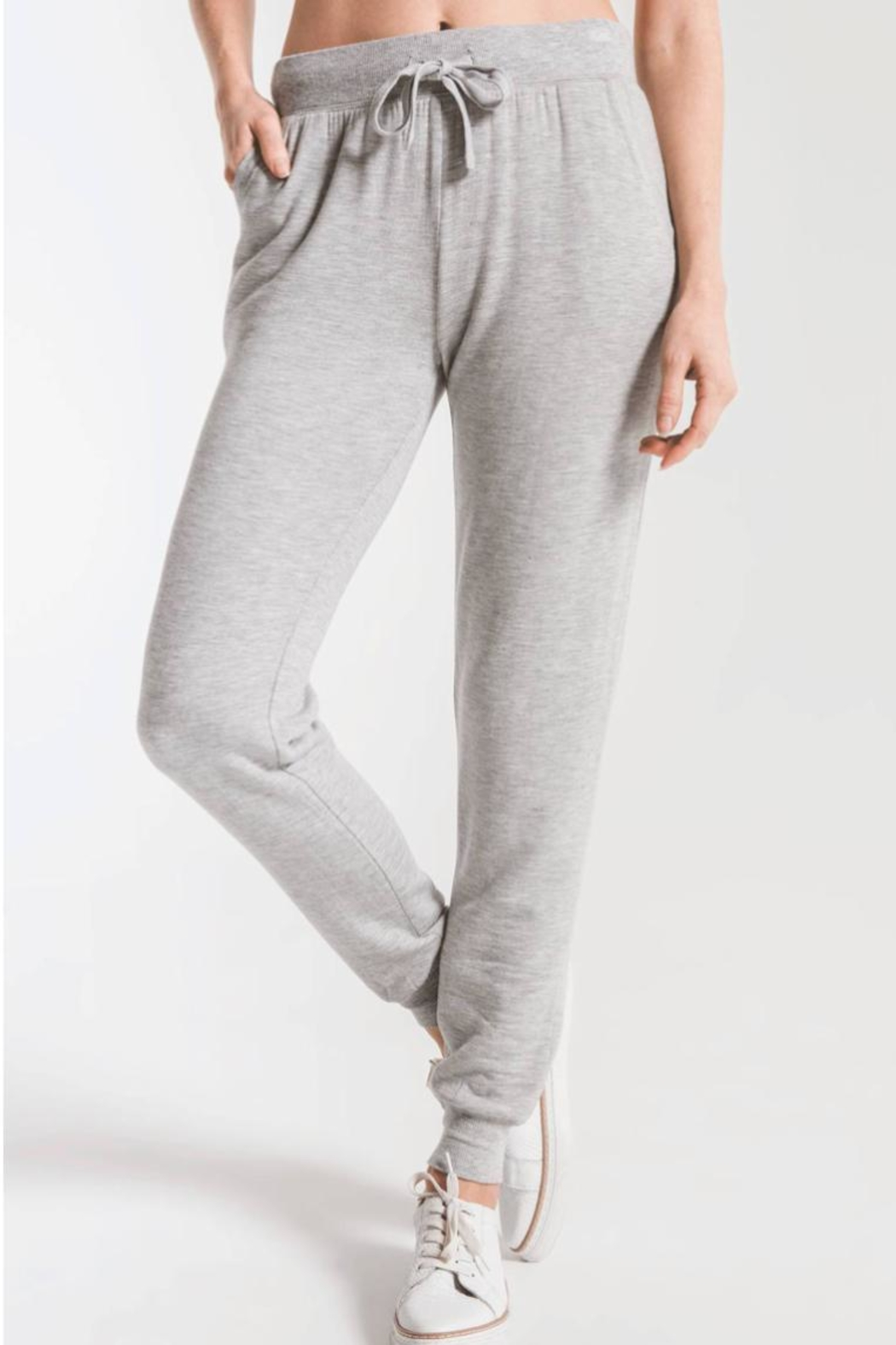 z supply Premium Fleece Jogger - Front Cropped Image