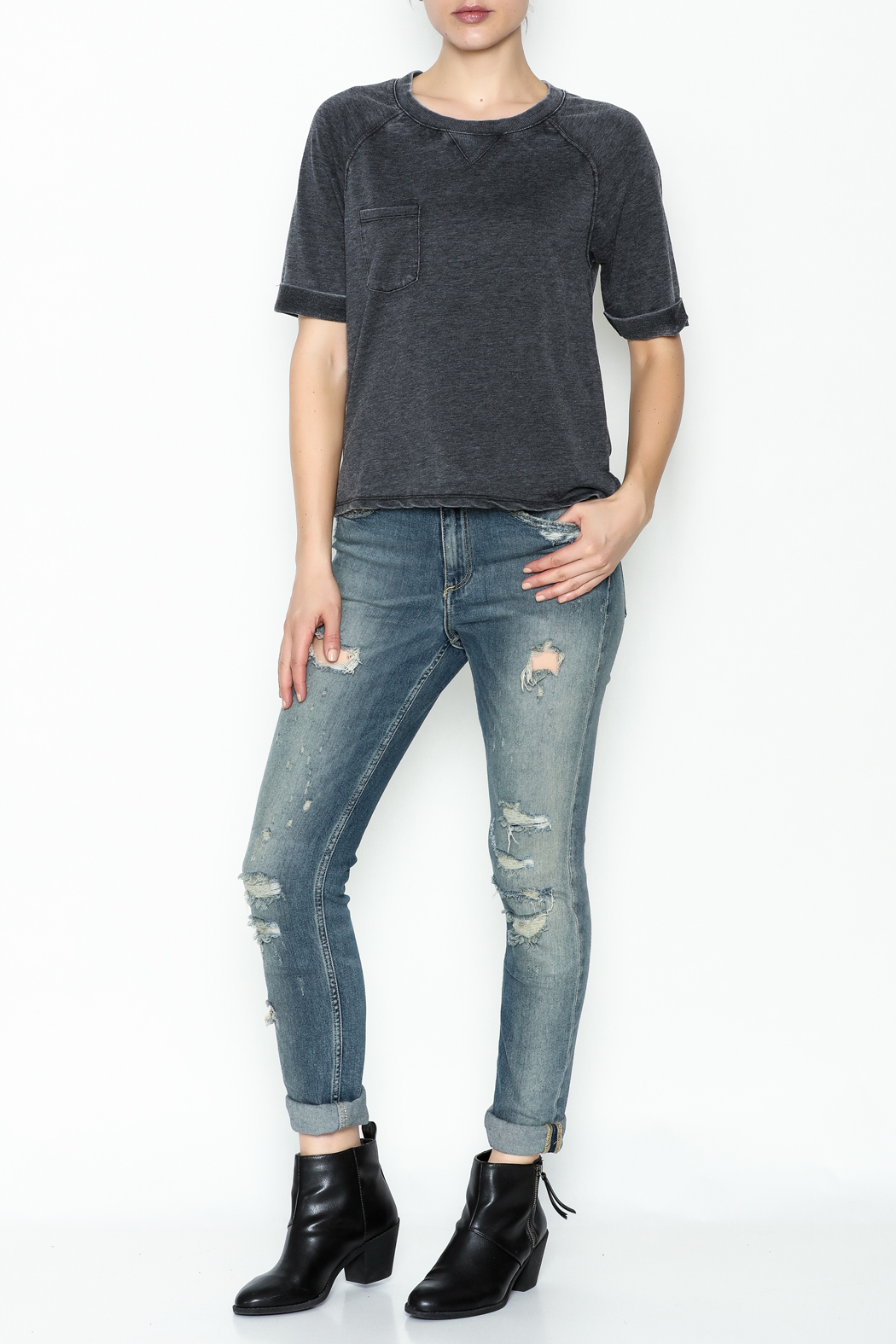 z supply Raglan Soft Top - Side Cropped Image