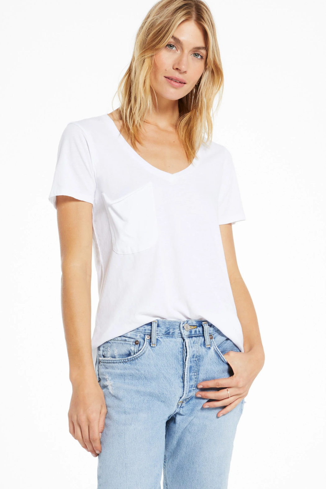 z supply Z Supply  Solid Pocket Tee - Front Full Image
