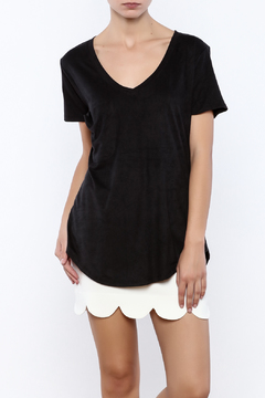 Shoptiques Product: Faux Suede Pocket Tee