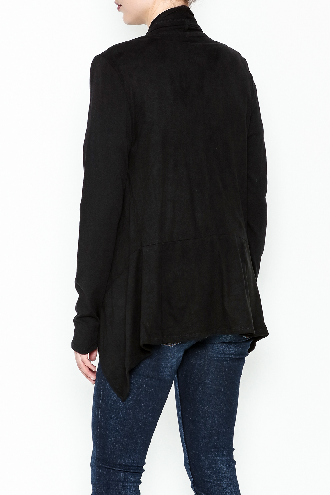 z supply Suede Waterfall Jacket - Back Cropped Image