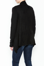 z supply Suede Waterfall Jacket - Back cropped
