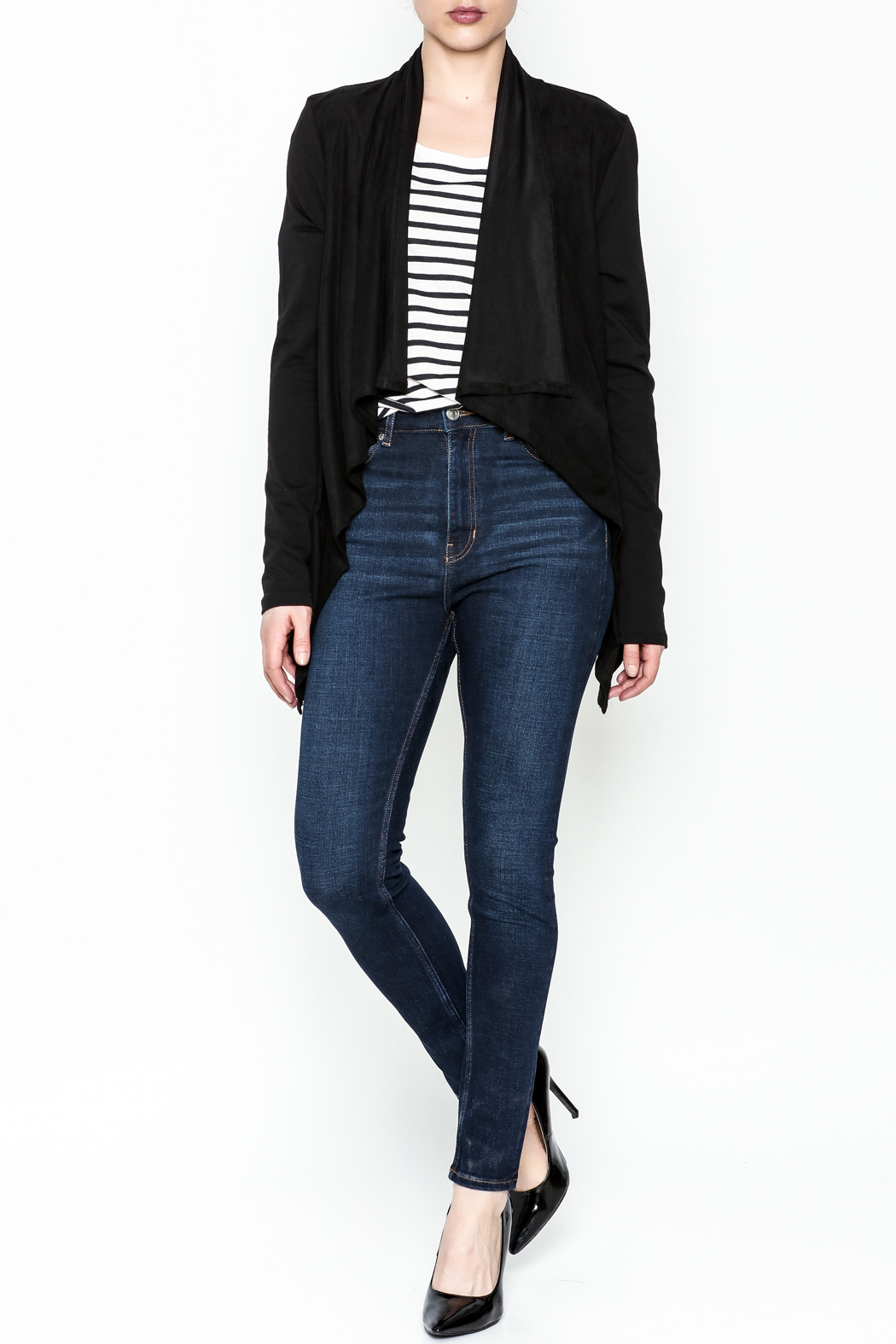 z supply Suede Waterfall Jacket - Side Cropped Image