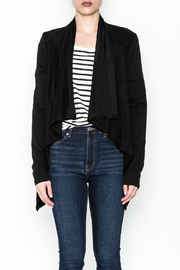 z supply Suede Waterfall Jacket - Front full body