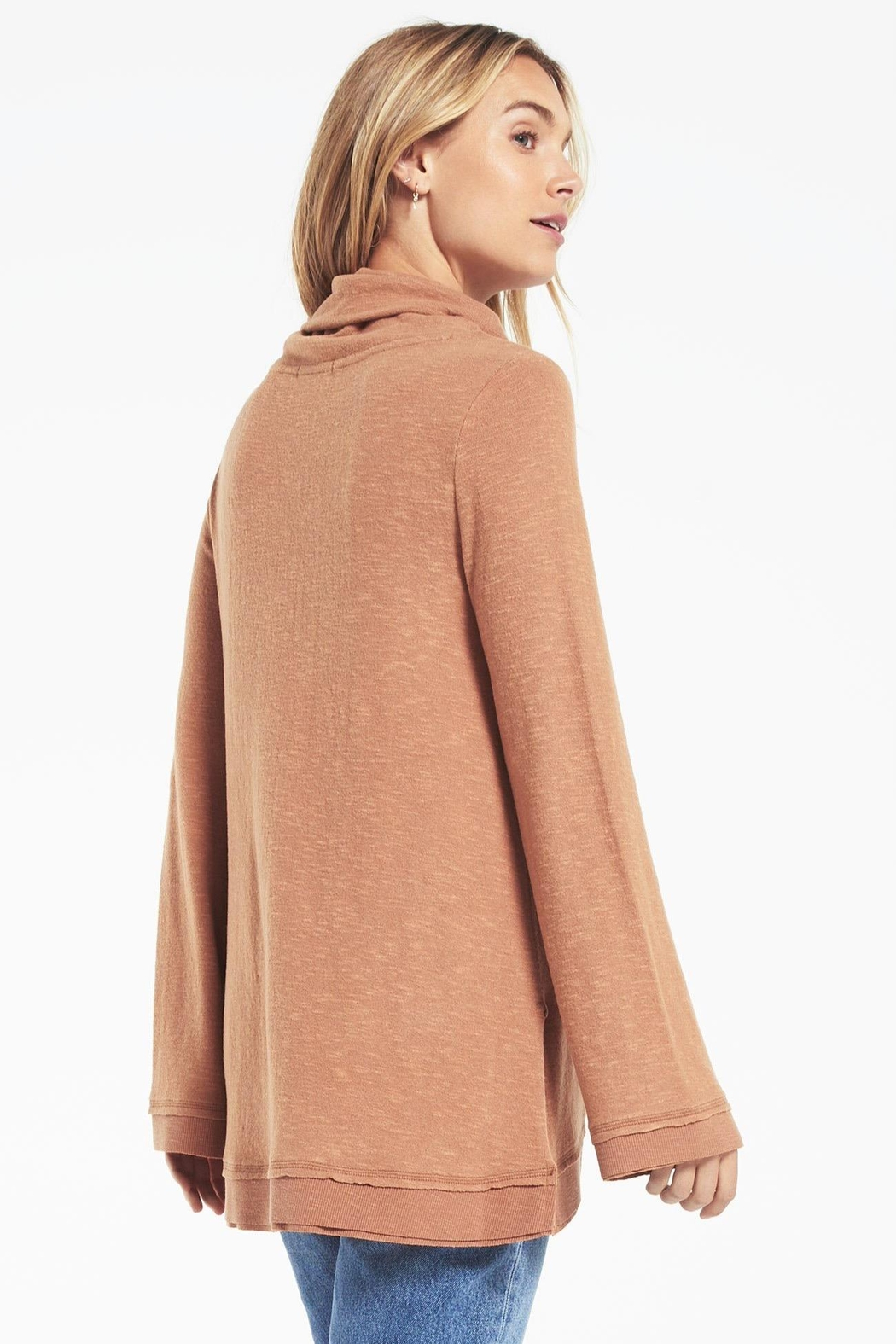 z supply Ali Cowl Sweater - Side Cropped Image