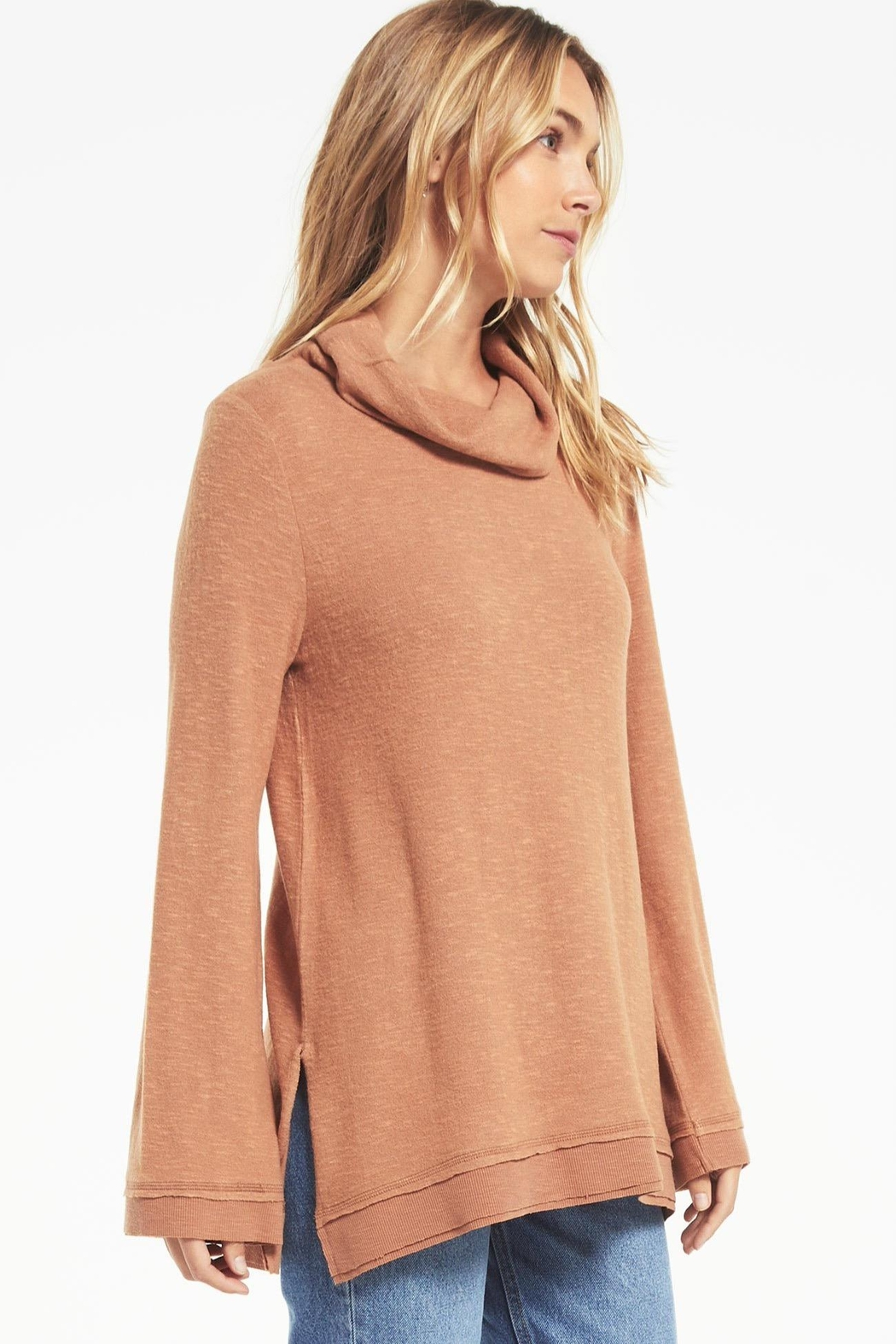 z supply Ali Cowl Sweater - Back Cropped Image