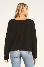 z supply Alpine Marled Pullover - Back cropped