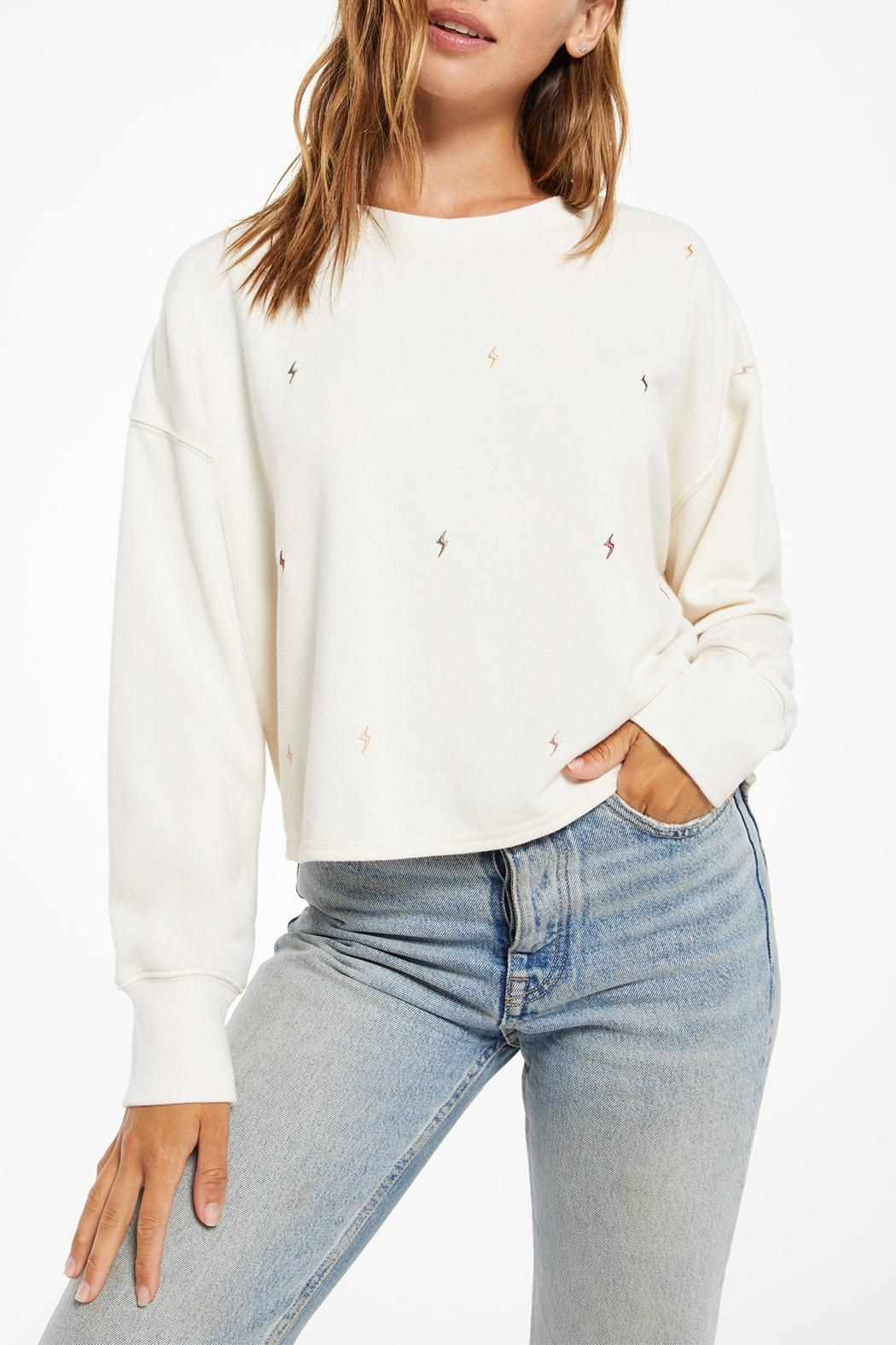 z supply Amelia Mini-Bolt Pullover - Back Cropped Image