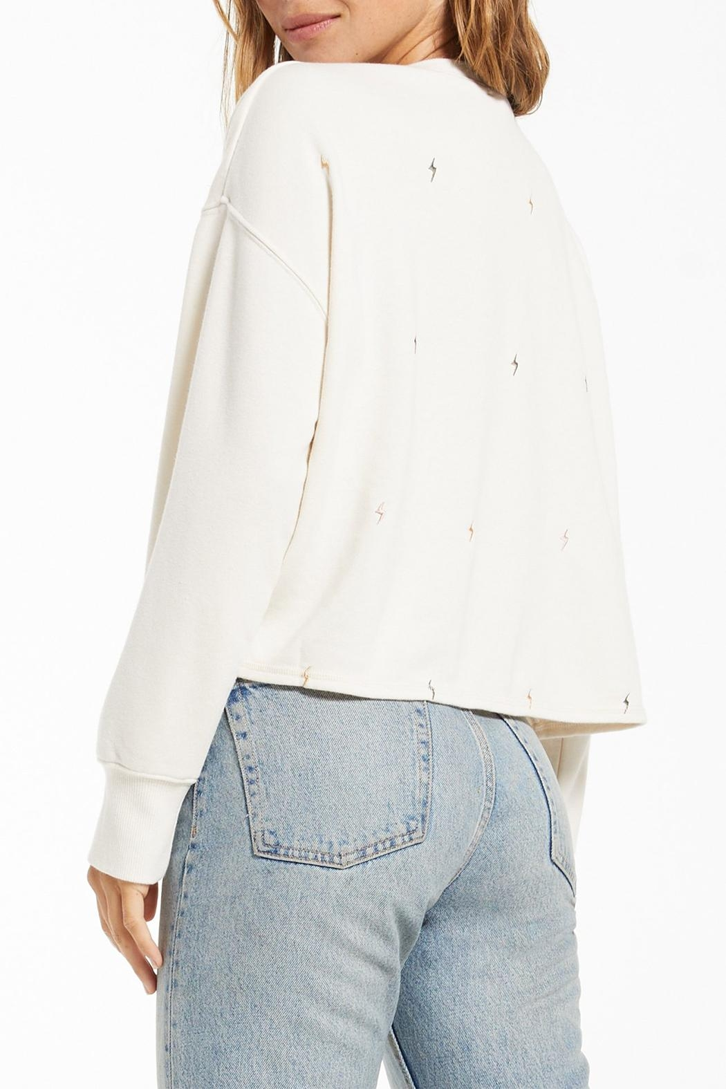 z supply Amelia Mini-Bolt Pullover - Side Cropped Image