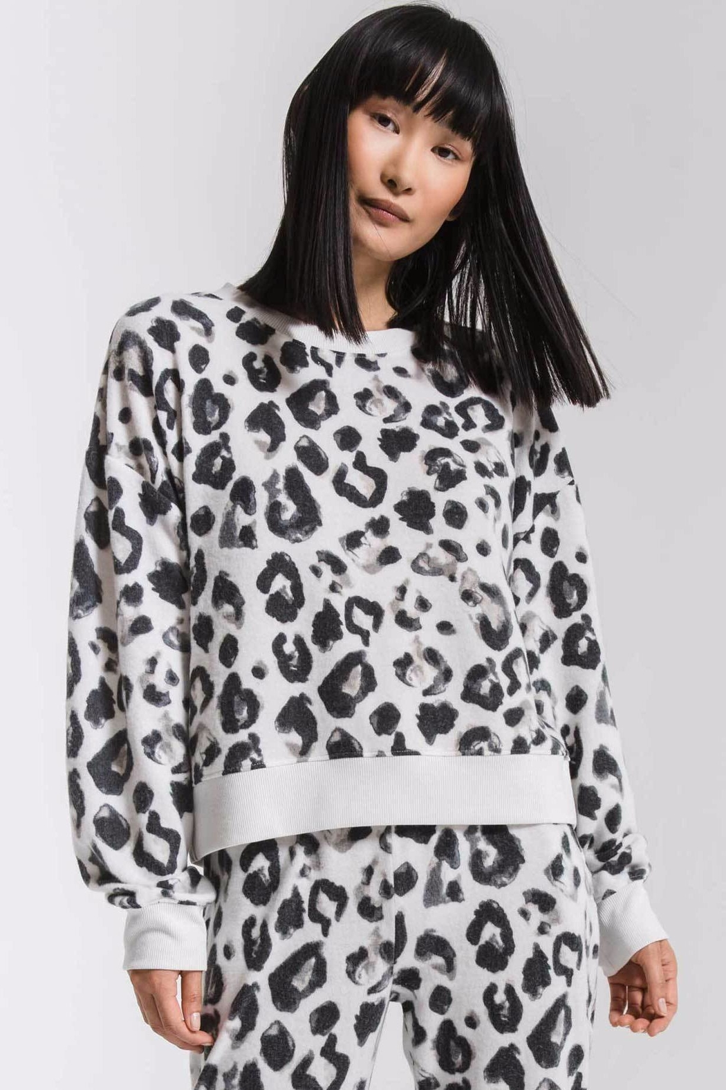 z supply Amur Leopard Sweatshirt - Front Cropped Image
