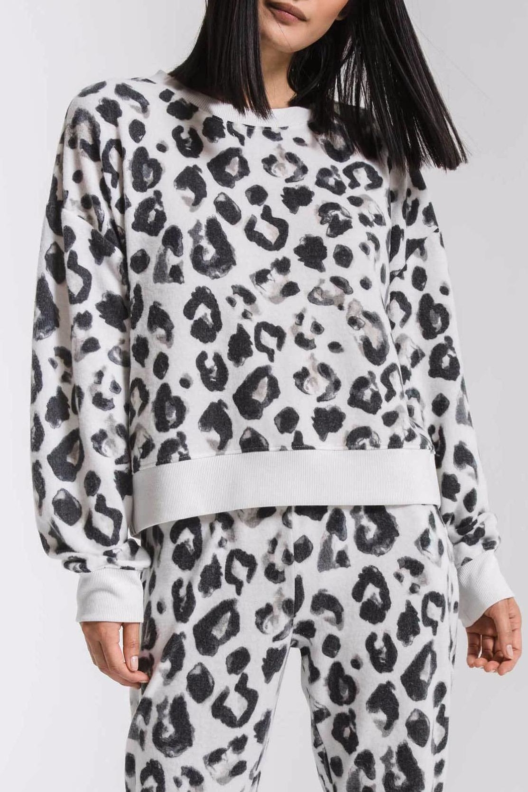 z supply Amur Leopard Sweatshirt - Back Cropped Image