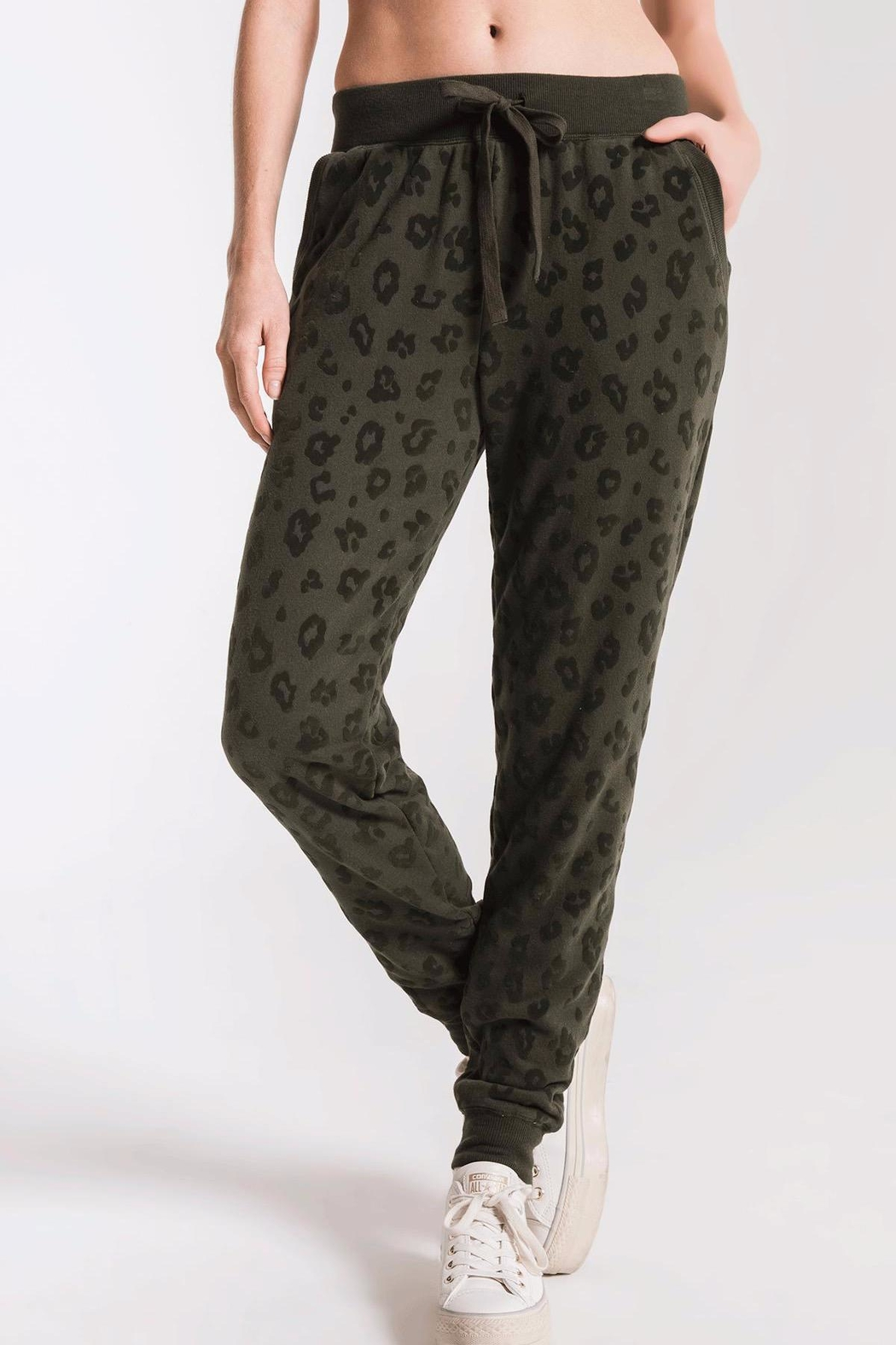 z supply Animal Flocked Jogger - Front Cropped Image