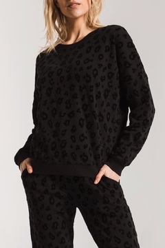 Shoptiques Product: Animal Flocked Pullover