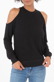 z supply Black Cold Shoulder Top - Front cropped