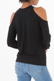 z supply Black Cold Shoulder Top - Front full body
