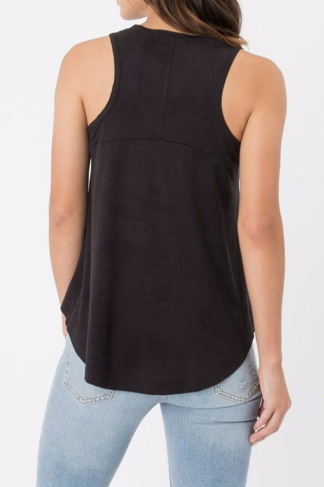 z supply Black Suede Tank - Front Full Image