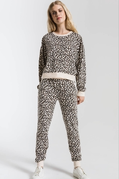 Shoptiques Product: Brushed Leopard Pullover