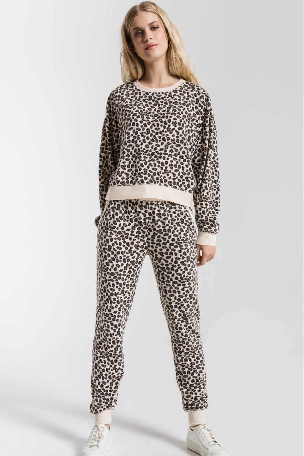 z supply Brushed Leopard Pullover - Main Image