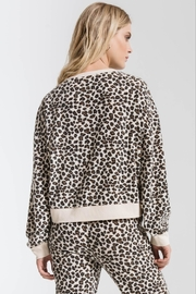 z supply Brushed Leopard Pullover - Front full body