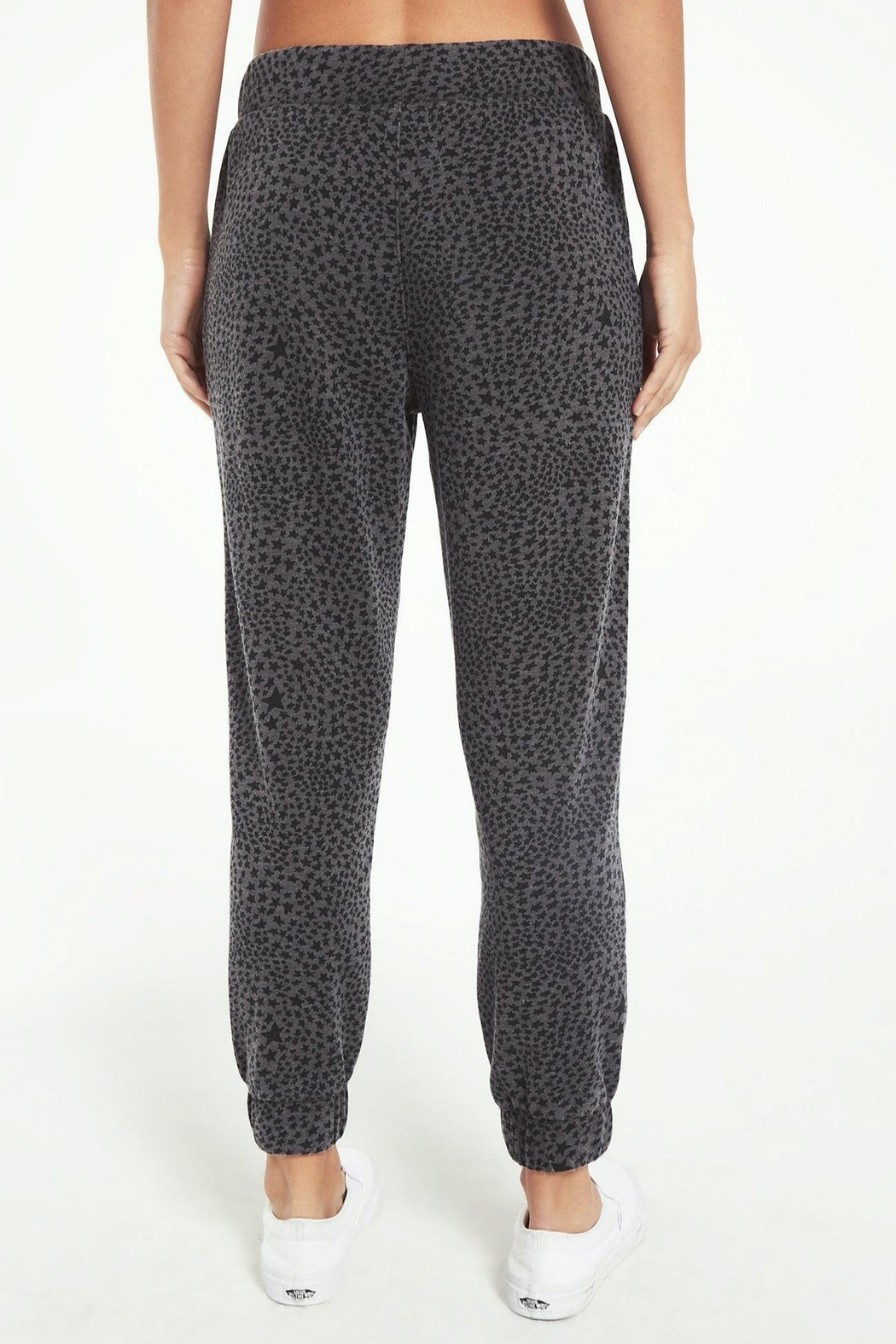 z supply Cadence Stardust Jogger-Charcoal - Front Full Image