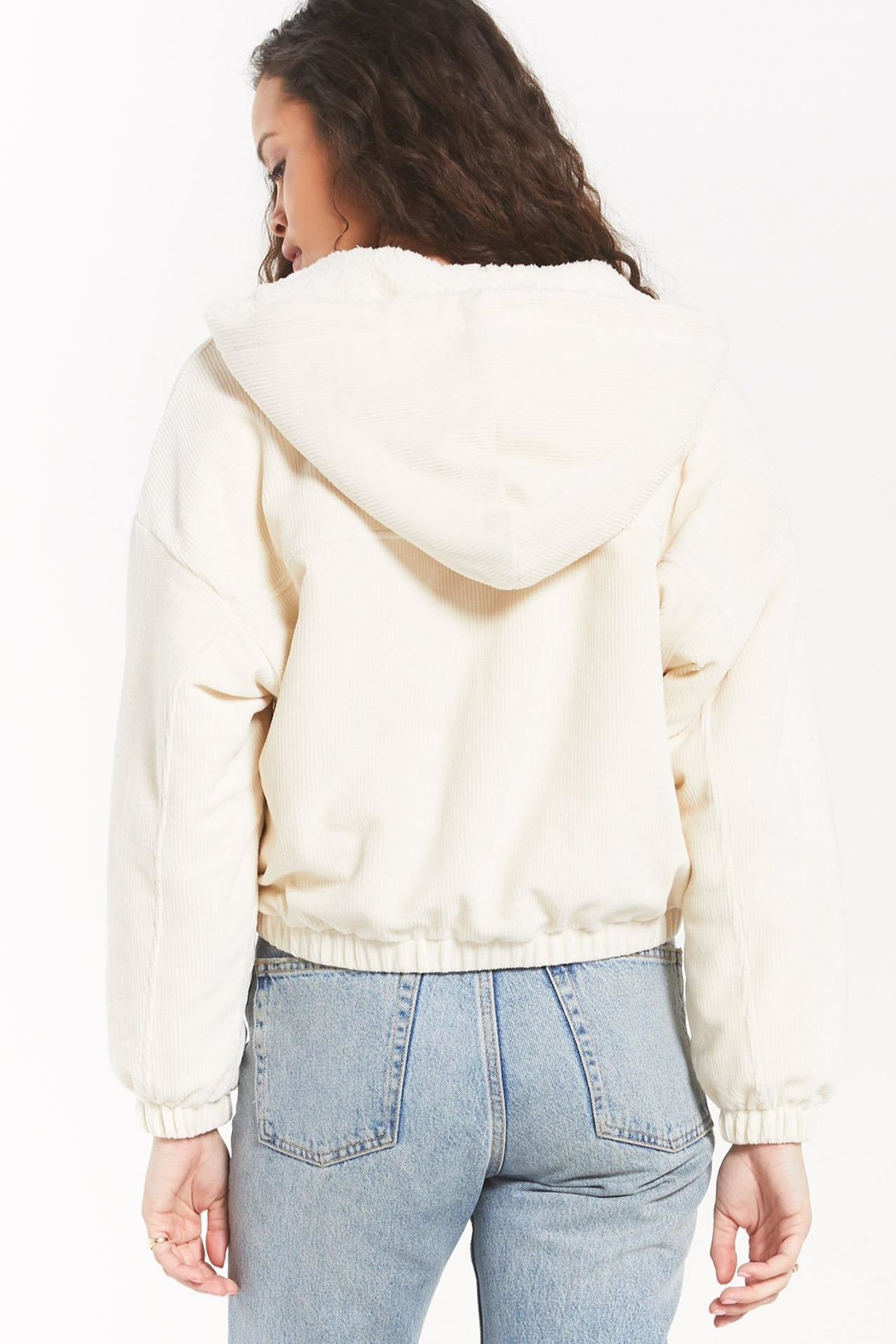 z supply Camille Cord Bomber - Side Cropped Image