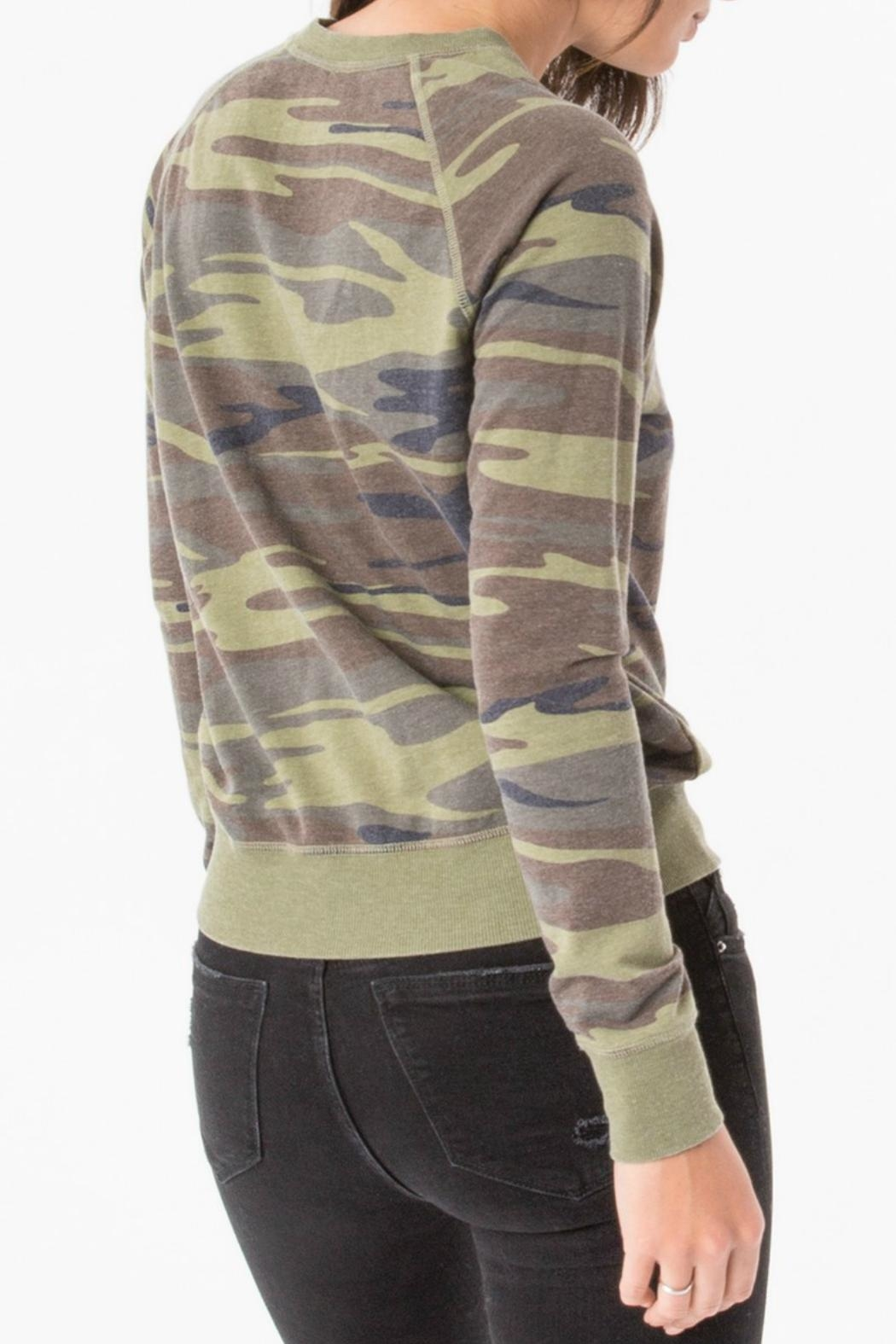 z supply Camo Crew Pullover Top - Side Cropped Image