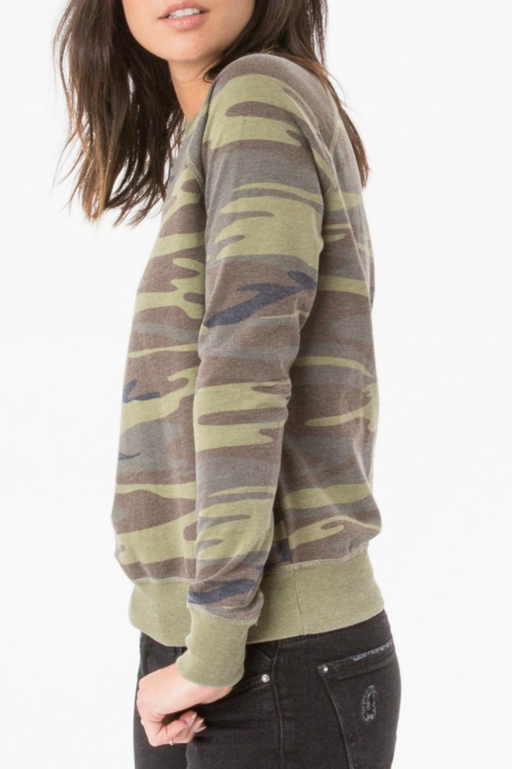 z supply Camo Crew Pullover Top - Front Full Image
