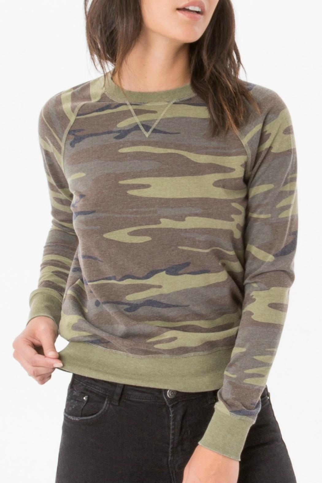 z supply Camo Crew Pullover Top - Main Image