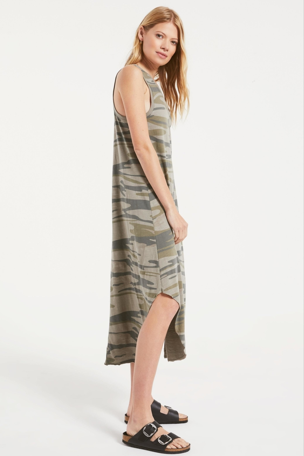 z supply Camo Reverie Dress - Front Full Image