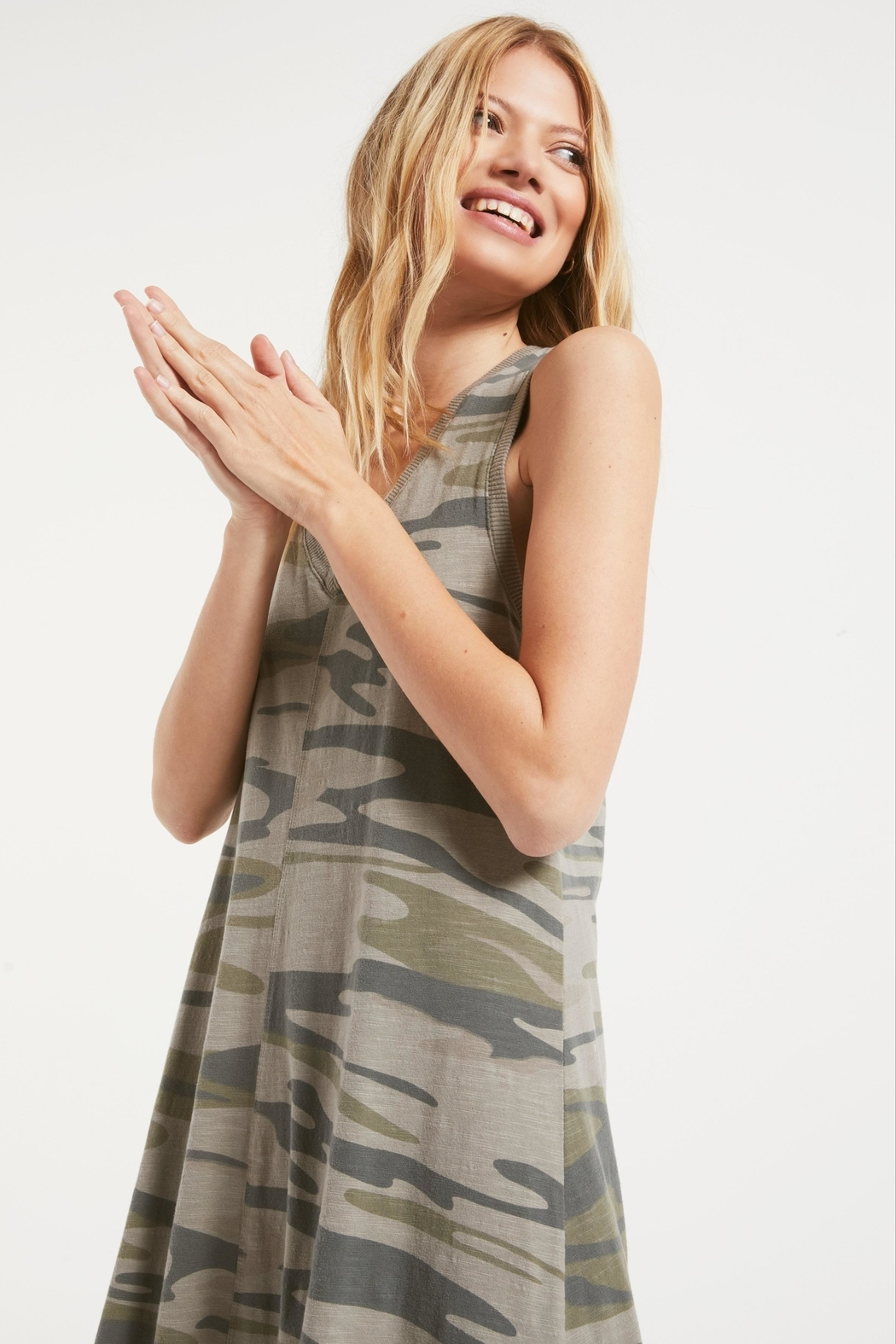 z supply Camo Reverie Dress - Back Cropped Image