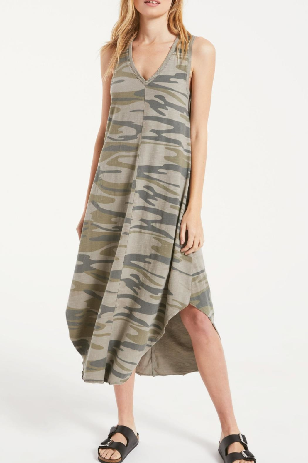 z supply Camo Riverie Dress - Front Cropped Image
