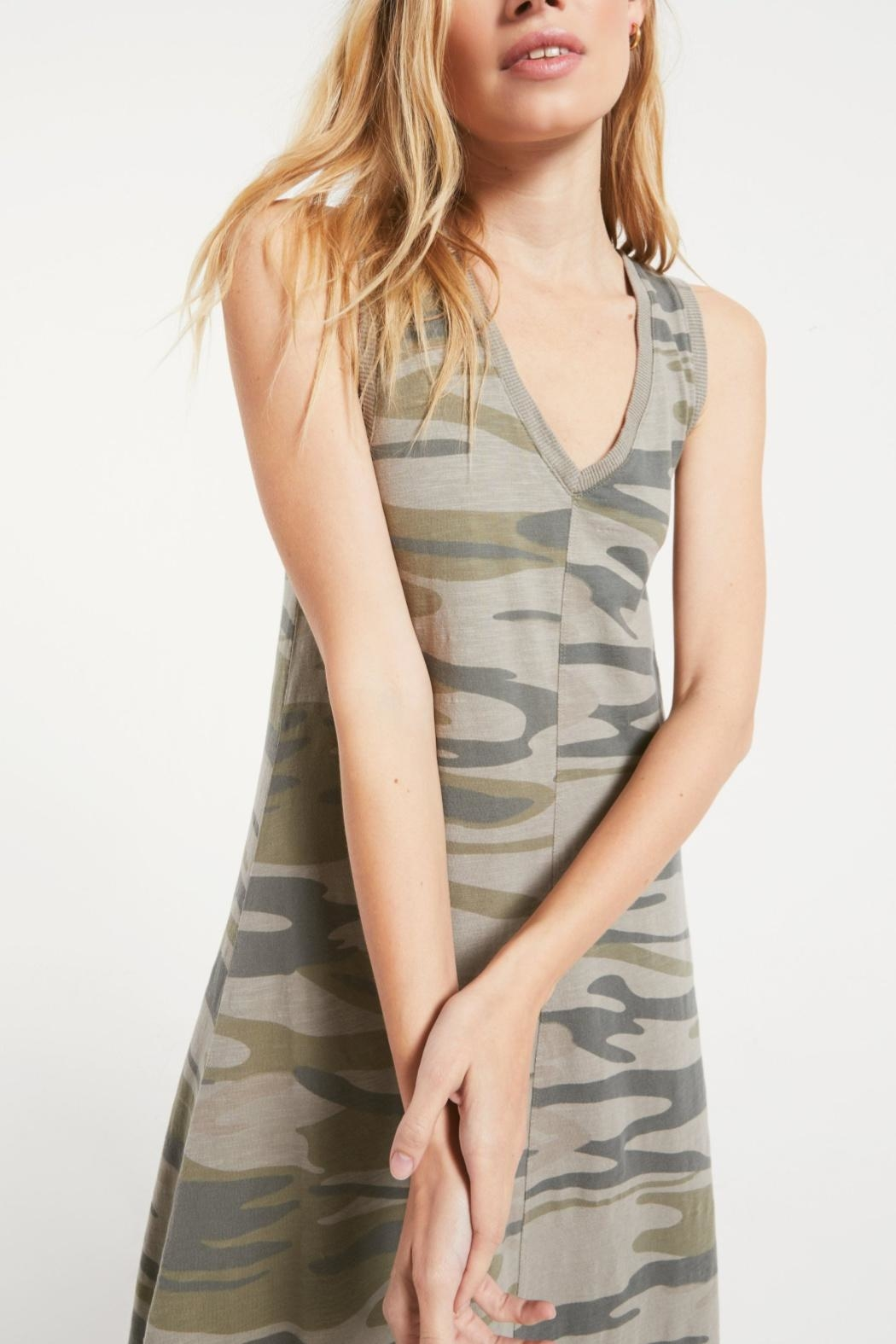 z supply Camo Riverie Dress - Front Full Image