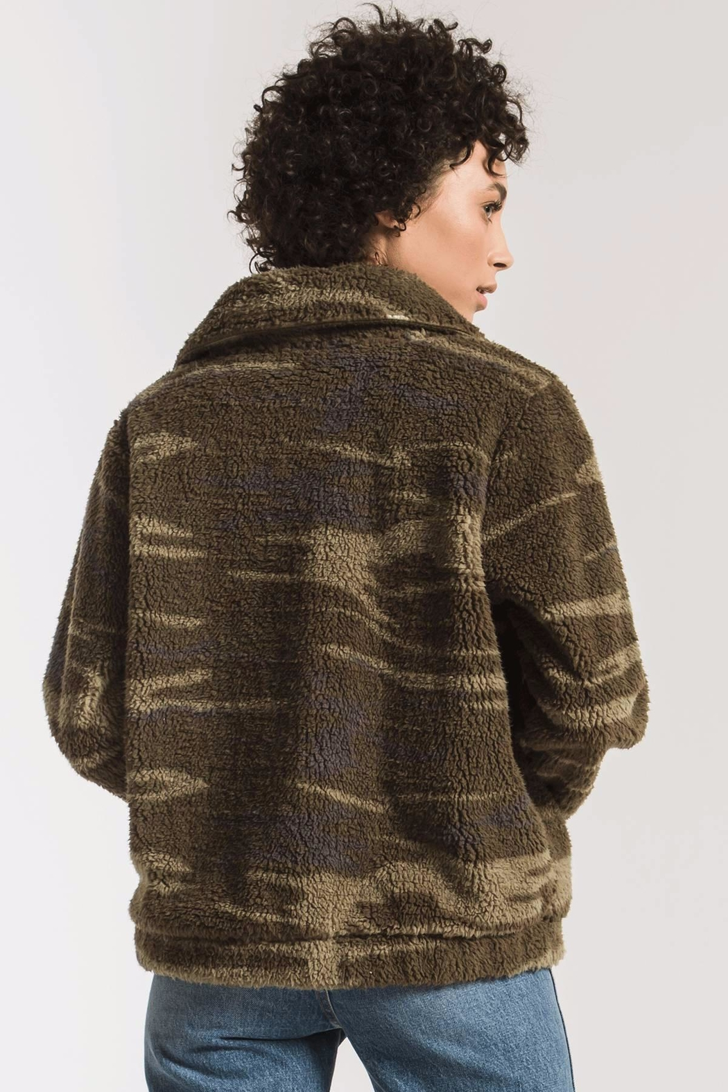 z supply Camo Sherpa Jacket - Side Cropped Image