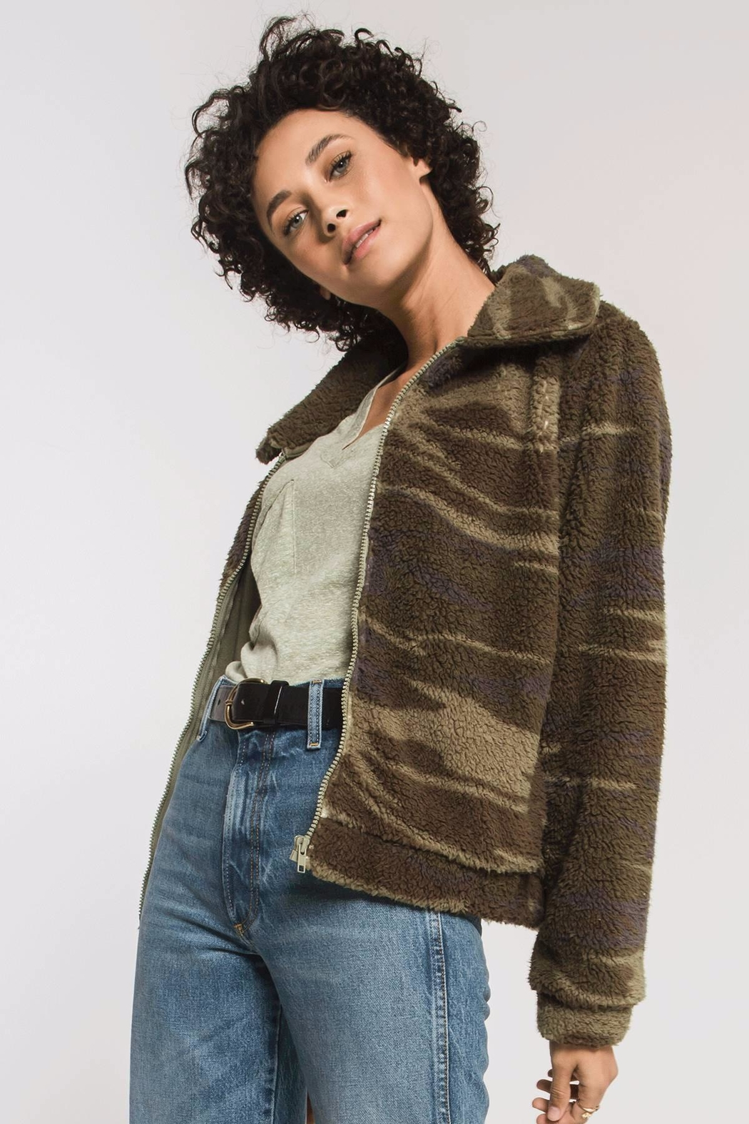 z supply Camo Sherpa Jacket - Back Cropped Image
