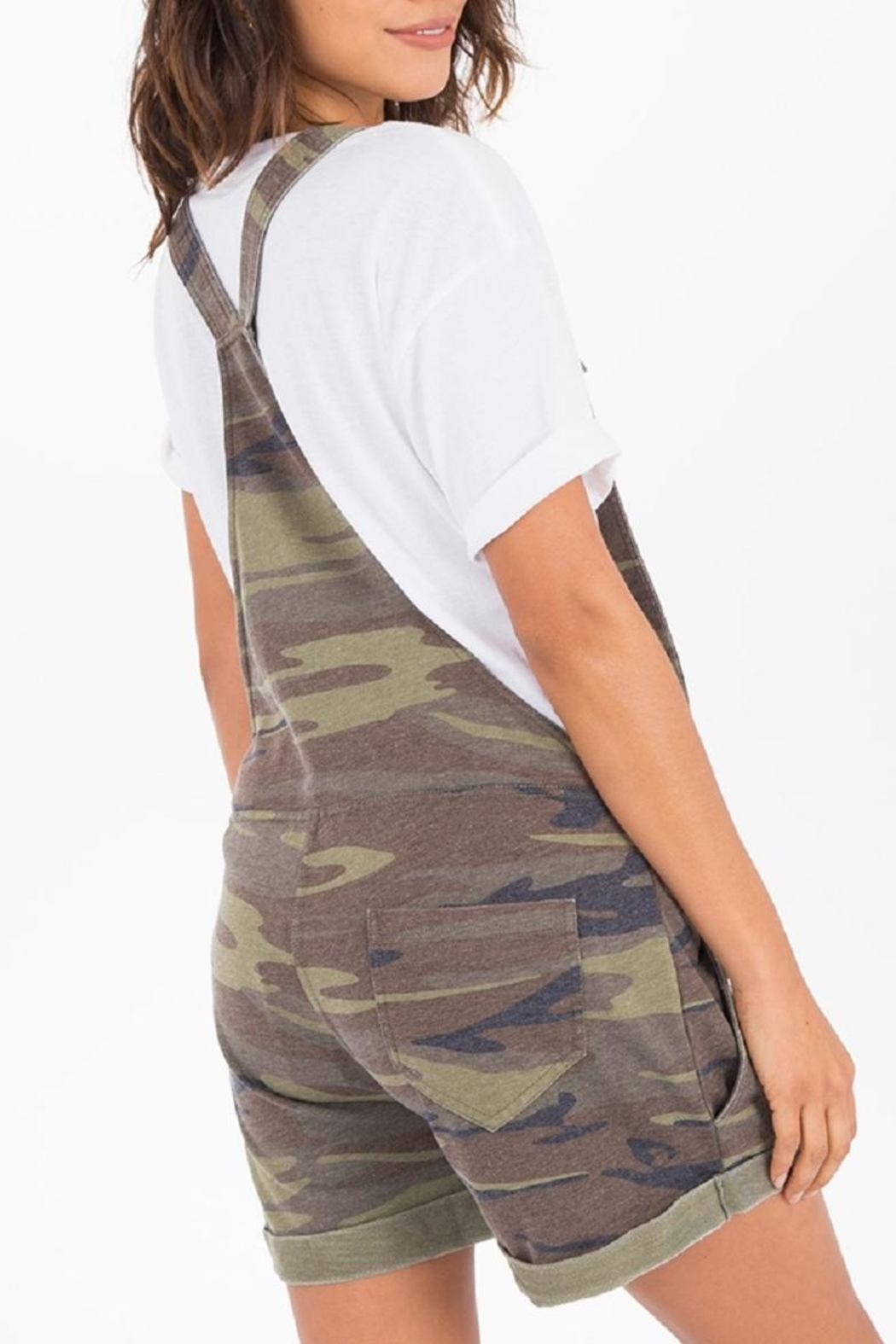 z supply Camo Short Overalls - Side Cropped Image
