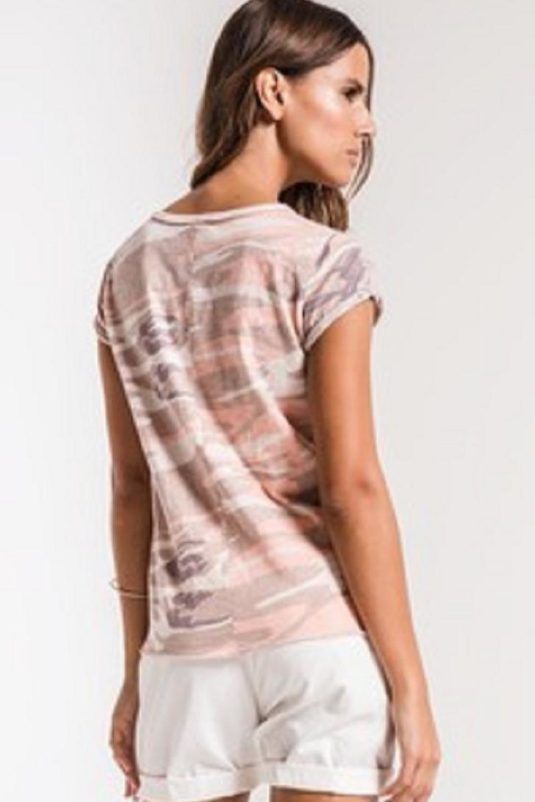 z supply Camo Tee Pink - Front Full Image