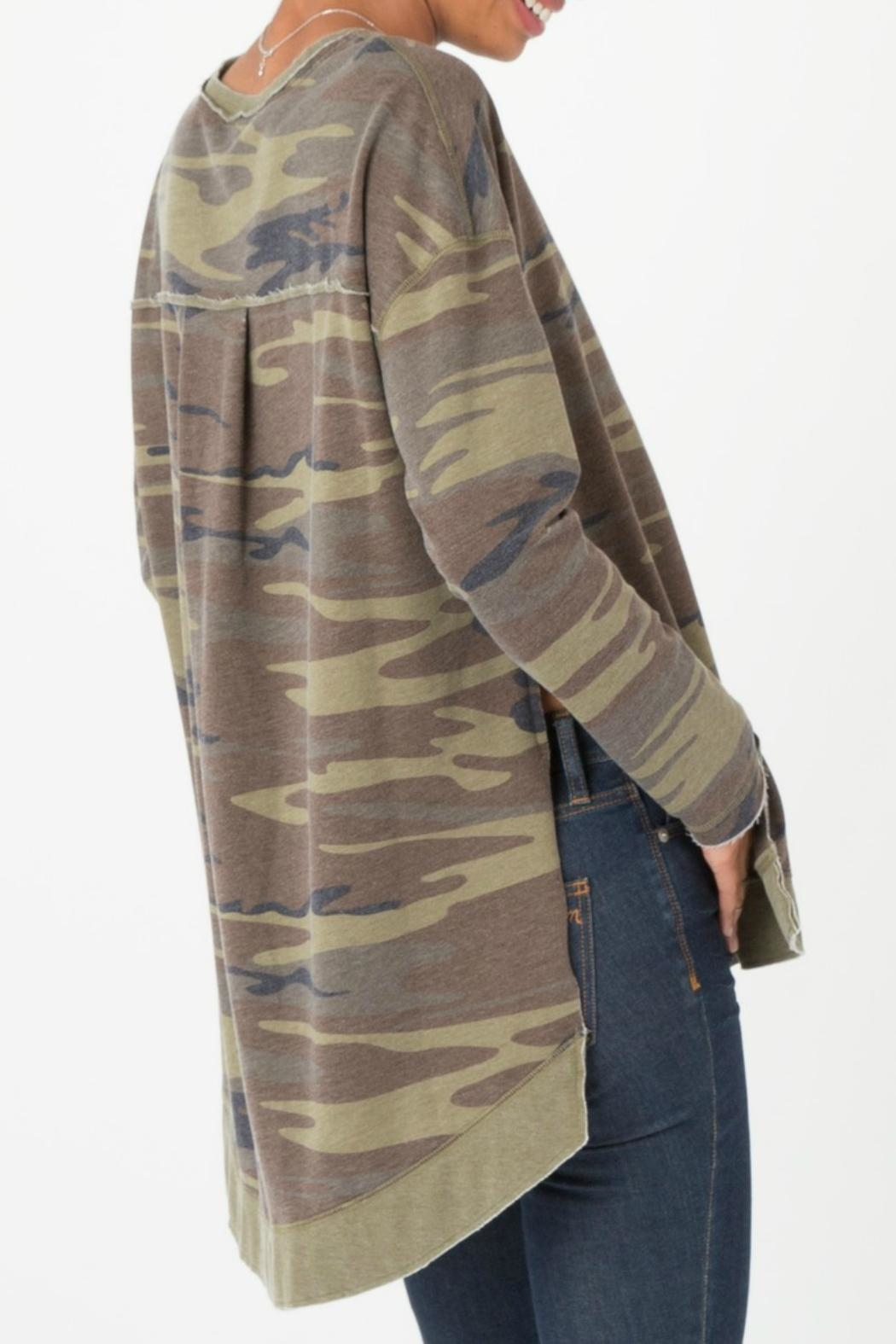 z supply Camo Weekender Pullover - Side Cropped Image