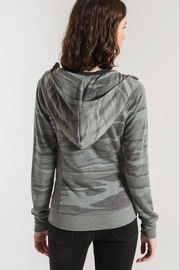 z supply Camo Zip Hoodie - Back cropped