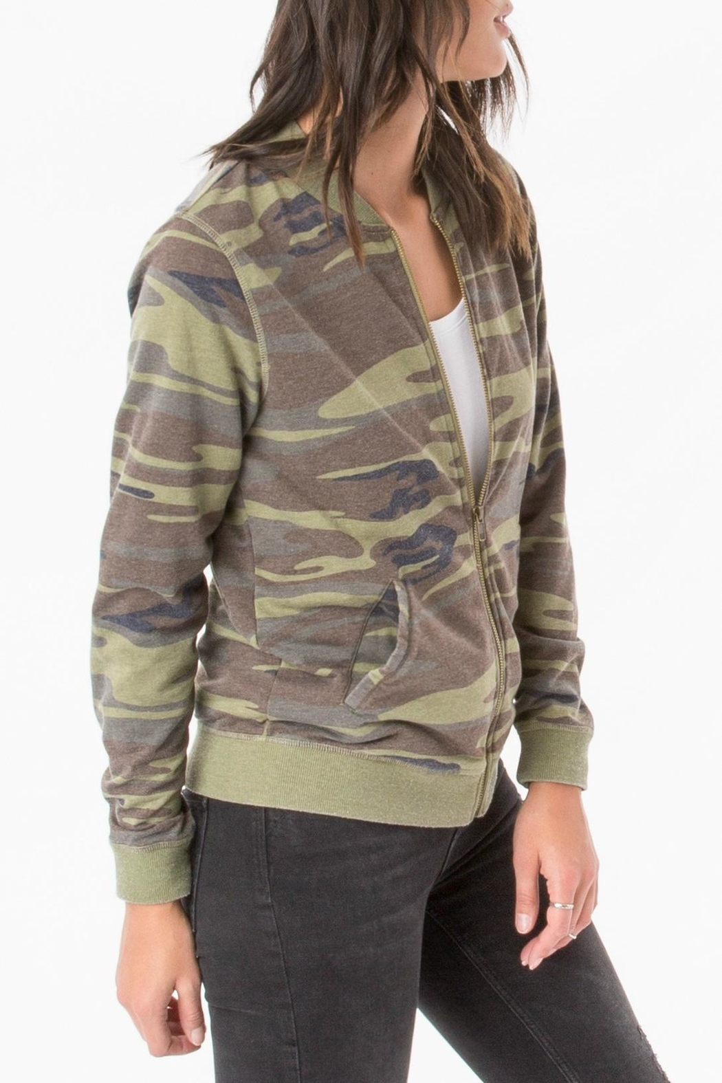 z supply Camo Zip Up Jacket - Front Cropped Image