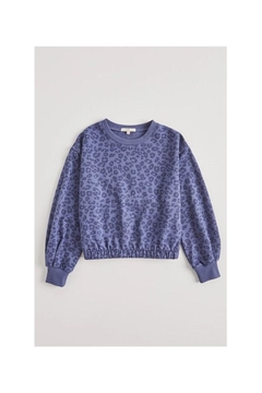 Z Supply  Carmen Leopard Sweater- Girls - Alternate List Image