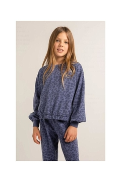 Z Supply  Carmen Leopard Sweater- Girls - Product List Image