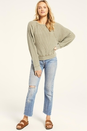 Z Supply  Claire Waffle Long Sleeve - Front cropped